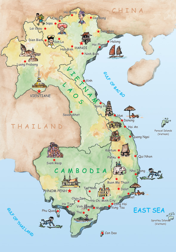 Gp Travel Local Travel Agency In Vietnam Vietnam Map