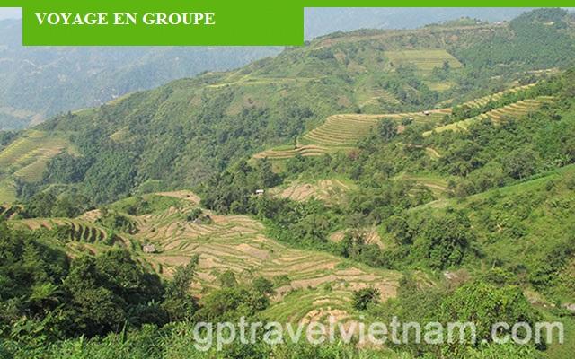 Randonnée pédestre à Hoang Su Phi - voyage en groupe: VPGRP06